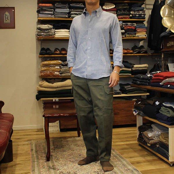 Atelier de vetements / herringbone twill button-down shirts,cloth of CANCLINI
