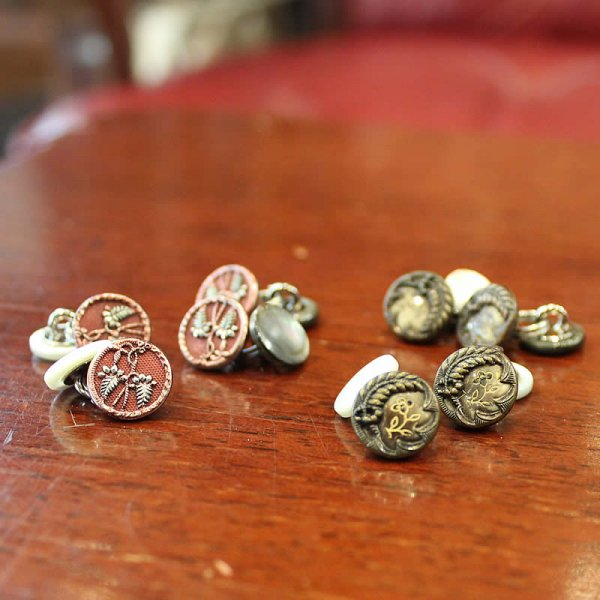 Atelier de vetements / antique french buttons cuff links