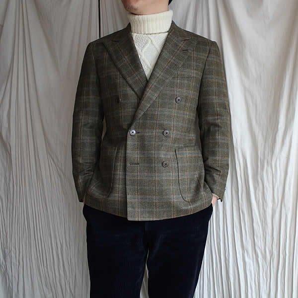 サンプル放出 Atelier de vetements /  double-breasted jacket  (dead stock cloth MARIANO RUBINACCI)
