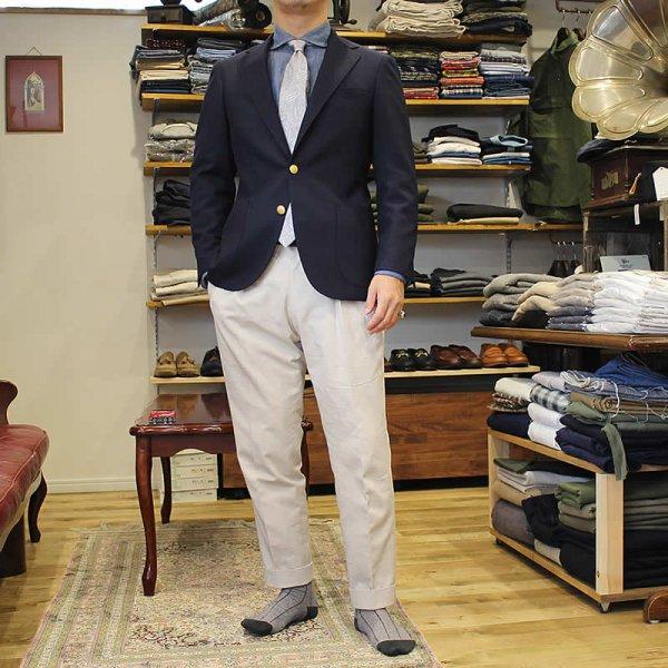 *受注生産*Atelier de vetements / wool twill jacket dead stock cloth (紺ブレ)