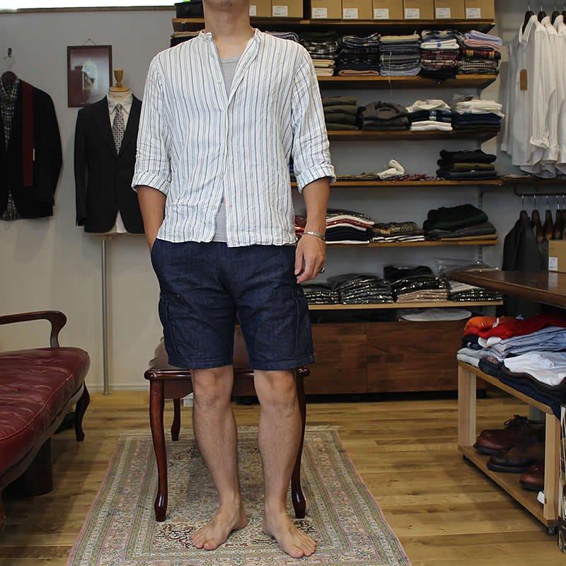 *受注生産*Atelier de vetements shirt / No.45 Italian linen band collar shirts
