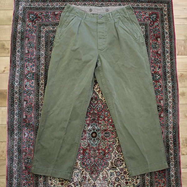 Vintage / 60s swedish army utility trousers (洗濯、乾燥機済)
