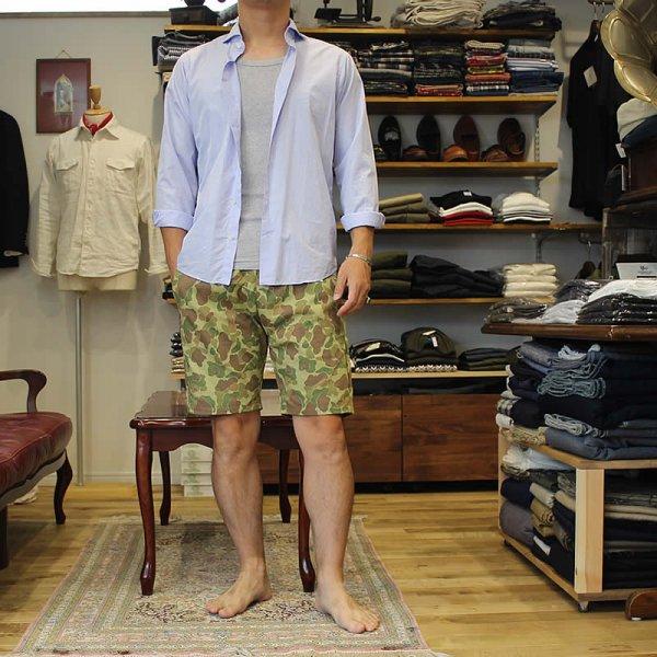 Atelier de vetements / easy dress shorts -ヘリンボーン織 ダックハンターカモ-