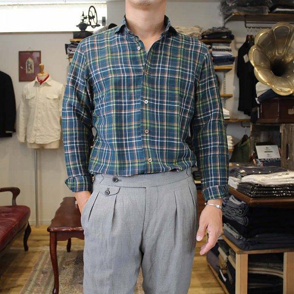 Atelier de vetements / リネンモダール カッタウェイカラーシャツ
