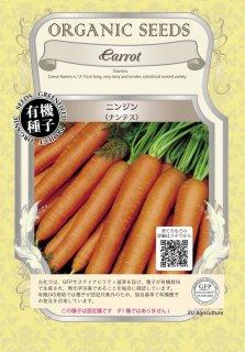 ニンジン にんじん 人参 / ナンテス / 有機 種子 固定種 / グリーンフィールド / 根菜 [大袋]