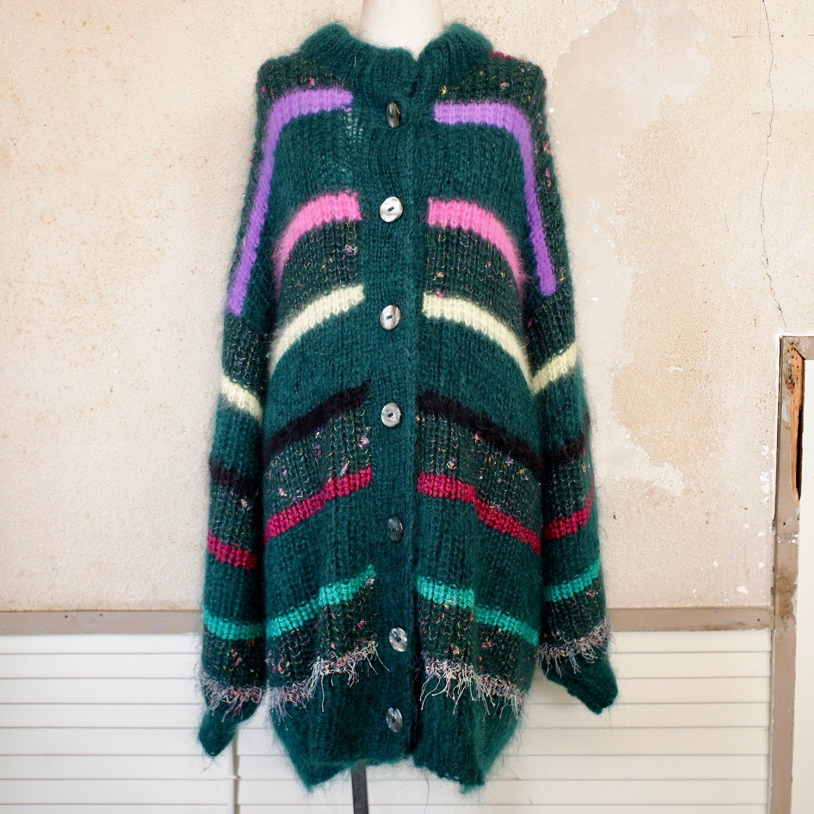 algae hill knit coat