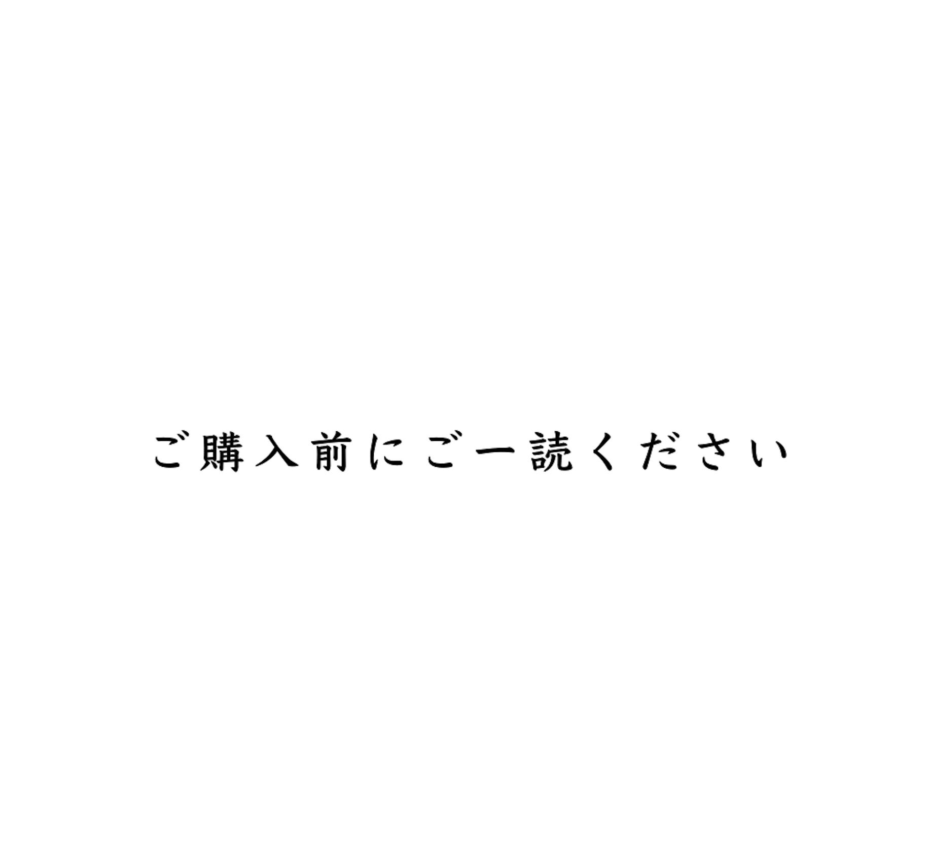 <b>【ご購入前にご一読ください】</b>