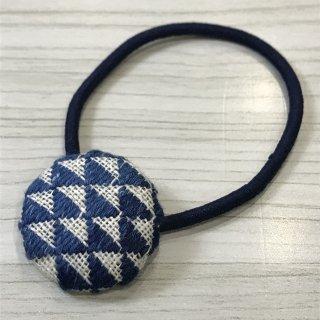 藍染のヘヤゴム(小) ウロコ