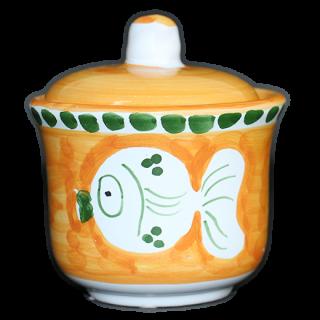 Sugar pot  -魚A-(オレンジ)