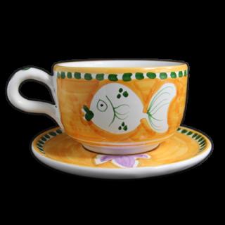 Latte  cup -魚A-(オレンジ)