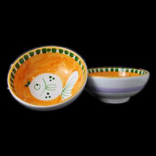 ボウル 13cm -魚A-(オレンジ)