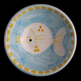 ボウル 13cm -魚A-(水色)