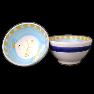 Bowl 9cm -魚A-(水色)