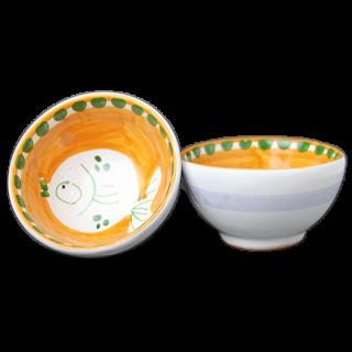 Bowl 9cm -魚A-(オレンジ)