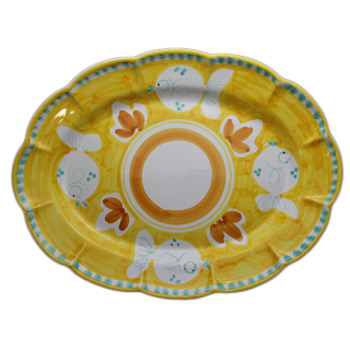 Ovale 38cm -魚A-(イエロー)