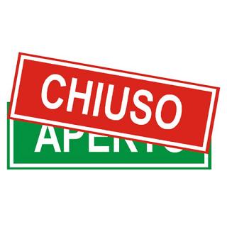 CHIUSO/APERTO(開店/閉店)