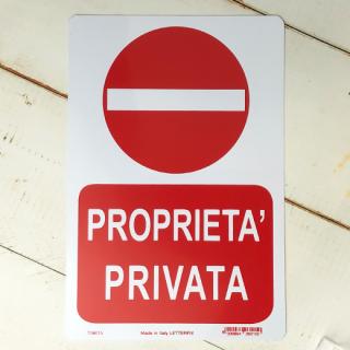 PROPRIETA PRIVATA (私有地)