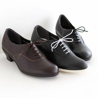 Travel Shoes by chausser トラベルシューズバイショセ 4cmヒールレースアップシューズ TR-007 レディース