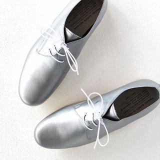 TRAVEL SHOES by chausser トラベルシューズバイショセ プレーントゥレースアップシューズ TR-008 シルバー/ホワイト レディース 靴