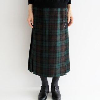 O'NEIL OF DUBLIN オニールオブダブリン regular easy kilt ウールプリーツ巻きスカート 5073WP レディース