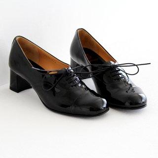 chausser ショセ レースアップパンプス C-2185 black enamel レディース 靴
