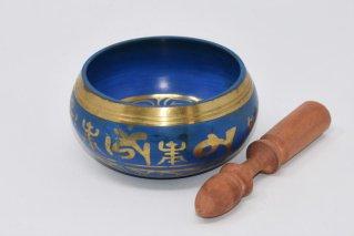 シンギングボウル【Φ:11cm/緑赤青】/ネパール雑貨/チベット密教法具