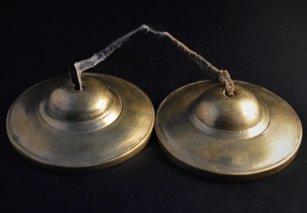 ティンシャ【無地】/ゴールドブロンズカラー/チベット密教法具