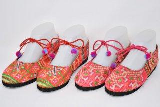 モン族刺繍パンプス【Size:22.0cm・22.5cm】/エスニックファッション/民族アイテム