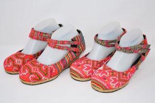 モン族刺繍パンプス【Size:23.5cm】/エスニックファッション/民族アイテム
