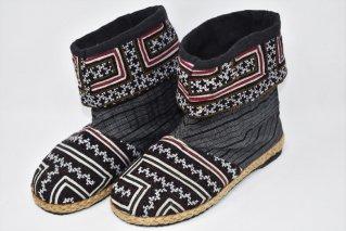 モン族刺繍ブーツ【Size:25.5cm】/エスニックファッション/民族アイテム/ユニセックス