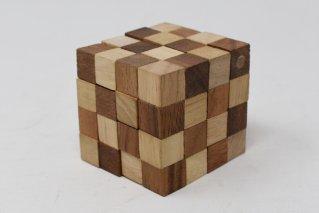 アナコンダキューブ【木製パズル】/木製ゲーム/タイ雑貨