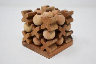 立体〇✕ゲーム【木製ゲーム】3目並べ/木製ゲーム/タイ雑貨
