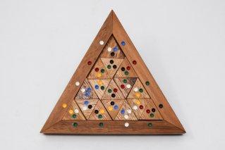 三角形カラーパズル【木製パズル】/マッチングパズル/木製ゲーム/タイ雑貨