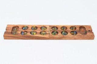マンカラ【木製ゲーム】/Mancala/折り畳み式/タイ雑貨