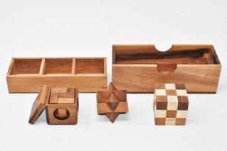 木製ゲーム3個セット【木製パズル】/woodengames/タイ雑貨