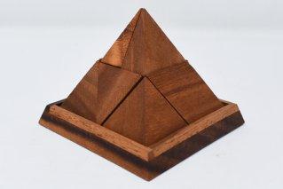 ピラミッドパズル【木製パズル】/立体パズル/Pyramid/木製ゲーム/タイ雑貨