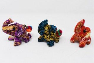 ゾウぬいぐるみ・Sサイズ【濃紫・濃緑・赤】/ドール/Stuffed_Elephant/タイ雑貨