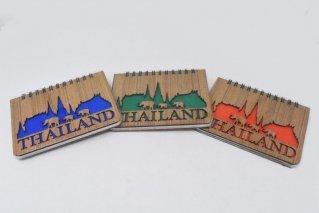 日記帳【寺院と象】リングノート型/タイ雑貨/diary/Thailand