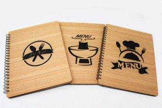 木製メニューブック【A4・7枚】リングファイル型/タイ雑貨/menubook/Thailand