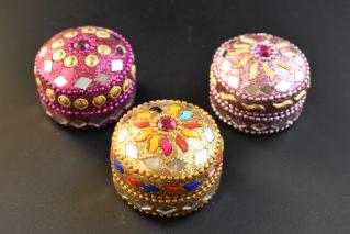 ジュエリーボックス・Sサイズ【桃・黄・青】/アクセサリー/タイ雑貨/jewelry_box