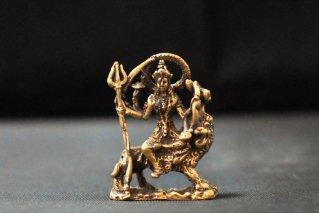 ドゥルガー神像【真鍮製】/マヒシャ/仏像・神像/ヒンドゥー教/インド神話