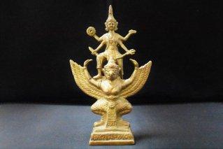 ヴィシュヌ神・ガルーダ像【真鍮製】/仏像・神像/ヴァーハナ/神々の乗り物/ヒンドゥー教/インド神話