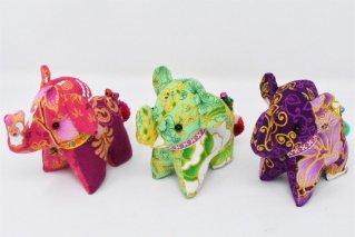 ゾウぬいぐるみ・Mサイズ【桃・黄緑・紫】/ドール/Stuffed_Elephant/タイ雑貨
