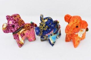 ゾウぬいぐるみ・Mサイズ【赤・濃青・橙】/ドール/Stuffed_Elephant/タイ雑貨