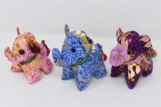 ゾウぬいぐるみ・Mサイズ【桃・青・紫】/ドール/Stuffed_Elephant/タイ雑貨
