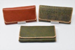 牛革長財布【3Pattern】/カード大容量/ウォレット/カウレザー/タイ雑貨/ハンドメイド