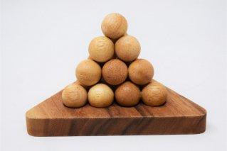 ボールピラミッド【木製パズル】/木製ゲーム/タイ雑貨/Ball_Pyramid