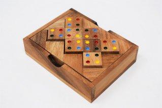 カラーマッチングスクエア【木製パズル】/木製ゲーム/タイ雑貨/Color_Matching_Square
