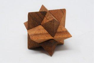 スターパズル・SS【木製パズル】/4Sizes/木製ゲーム/タイ雑貨/Star_Puzzle