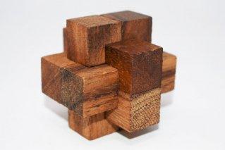 リンクパズル・S【木製パズル】/3Sizes/木製ゲーム/タイ雑貨/Link_Puzzle